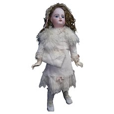 "36"" Exclusive  CHARM antique F15G  doll with french couture dressed perfect,"