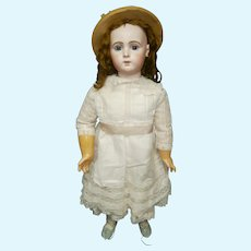 "33"" (86cm) Amazing antique french doll  bebe Jumeau TRISTE size 15"