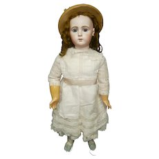 "33"" (86cm) Amazing antique french doll  bebe Jumeau TRISTE size 15"