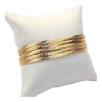 "18 kt Yellow Gold ""Liquid Gold"" 5-Strand Flexible Bracelet 7 1/4"" A5044"