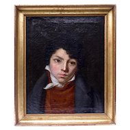 18th Century Portrait Of French Young Gentleman Circa 1790