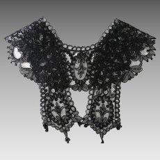19th Century Black Lace Woman's Collar Circa 1890