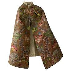 18th Century French Silk Brocade Cloak