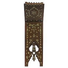 Quran Walnut Stand With Mother Of Pearl Inlays