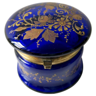 French 19th Century Enameled Glass Candy Casket Box
