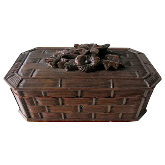 Carved Black Forest Box Circa 1910