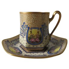 Limoges Art Nouveau Porcelain Demitasse And Saucer