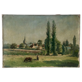 19th Century French Landscape signed Parisot.