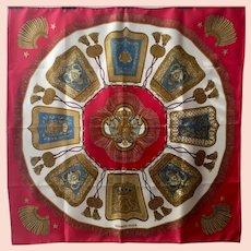 Vintage Hermes scarf Poste Et Cavalerie