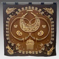 Vintage Hermes scarf Cavaliers d'Or