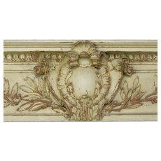 19th Century Architectural Door Header In Plaster