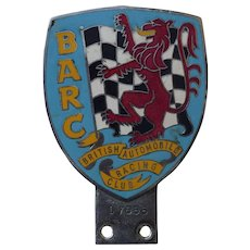 Original British Racing Drivers Club Enamel Badge