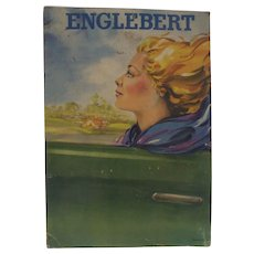 40's Vintage Speed Advertising for Tires Englebert Woman at Speed Automobile