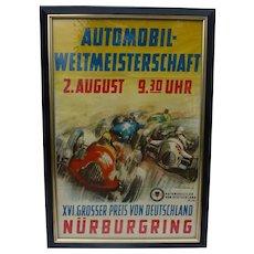 Original German Racing Poster from 1953 German Grand Prix