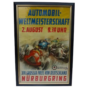 Original German Racing Poster from 1953 German Grand Prix