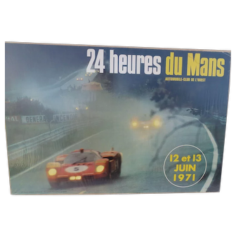Original 24 Hours of Le Mans Race Poster