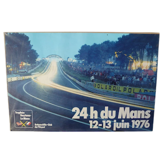 1976 Original 24 Hours of Le Mans Poster
