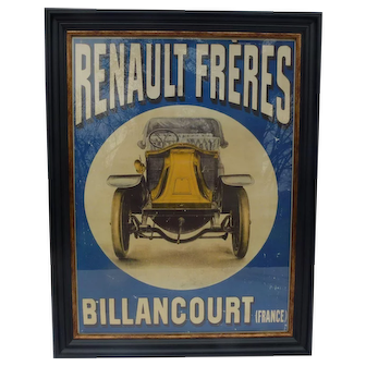 Automobile Advertising ( Pre -1908 ) for Renault Cars Original