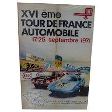 Tour De France Automobile Rally Poster 71