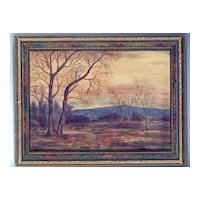 Fine 1920's Tonalist Landscape, American, Oil Painting on Board, A. Hursh
