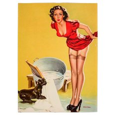 Wonderful Vintage Pinup Print, Dog-On-It, by Arnold Armitage