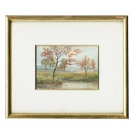 Miniature Italian Watercolor by L. Cecconi, 19/20th Century