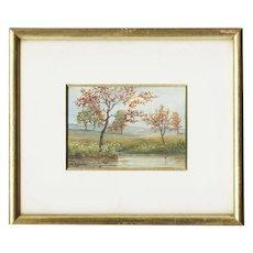 Miniature Italian Watercolor by L. Cecconi, 19/20th Century