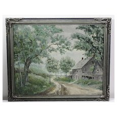 1950s Indiana Country Road Scene by Fletcher