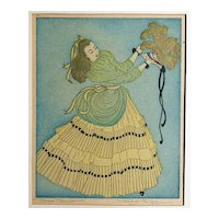 Fine PAIR of Original Etchings in Color by Prairie Print Maker and Chicago Artist Margaret Ann Gaug (1909-1983)