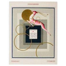 Very Fine Vintage Art Deco Graphic, Henry Dupuy, Paris