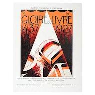 Vintage Art Deco Graphic, Gloire du Livre 1437-1927