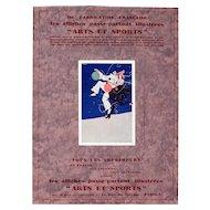Interesting Vintage Art Deco Graphic, Arts Et Sports, Armano Radeno, Paris, France