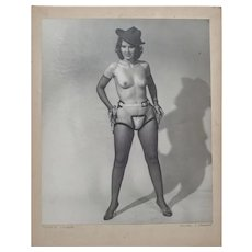 Swing'n Cowgirl, Original Photograph 1962, Exhibited Cincinnati Camera Club