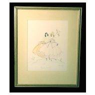 "Lovely Original Illustration Drawing/Watercolor, ""Beauty Parade"" by Arlene J. Love"