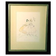 "Lovely Original Illustration Drawing/Watercolor, ""Beauty Parade"" by Arlene J. Love"