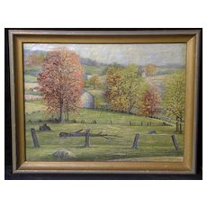 Fine Early 20th Century Pennsylvania Impressionist Landscape, Artist Unknown