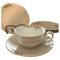 Bareuther  Cups & Saucers 8 PIECE Set