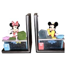 Disney   Mickey Mouse  &  Minnie Mouse Bookends