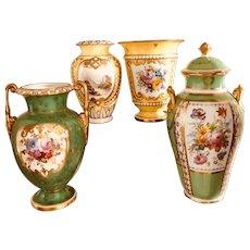 Royal Crown Derby 4 Vases