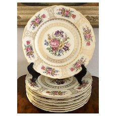 Continental  Bavaria  Rosenthal Porcelain 8 Dinner Plates