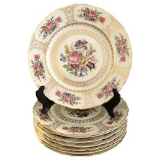 Continental  Bavaria  Porcelain 8 Dinner Plates