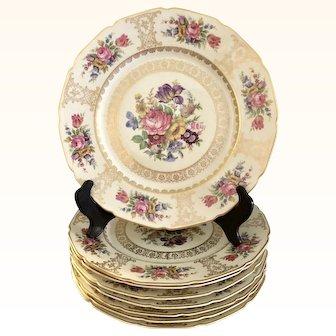 Continental  Bavaria  Porcelain 8 Dinner Plates