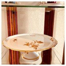 Limoges France Cake Stand, Cake Pedestal, Cake Plate, Gold Floral