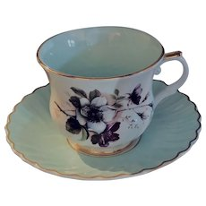 Staffordshire England  James Kent Teacup & Saucer