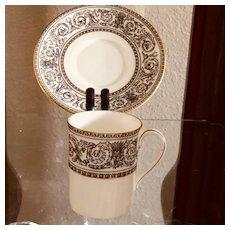 Royal Doulton Baronet Coffee Cup & Saucer
