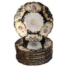 Coalport England c. 1800 Set of Dessert Plates