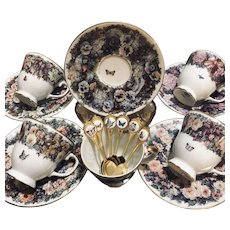 Bradford Edition by Lena Liu 5/Teacups, 6 Saucers & Spoons