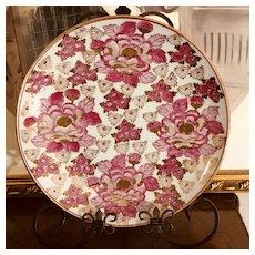 Large Vintage Gold Imari Serving Platter