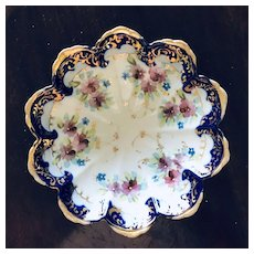 Nippon Early 1800's Footed Cobalt Bowl