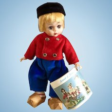 "Vintage Madame Alexander Kins DUTCH BOY Bent Knee 8"" Wendy Doll MINT in BOX"